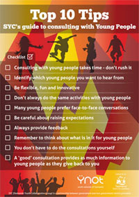 Top 10 tips for consulting with young people (cover image)