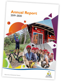 Image of the front cover of the 2019-20 Communities Tasmania Annual Report