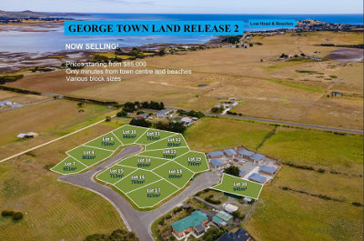 Sky view of the George Town subdivision - release 2