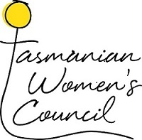 A yellow flower with the words Tasmanian Women's Council