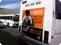 Gambling Advert on the rear of a bus