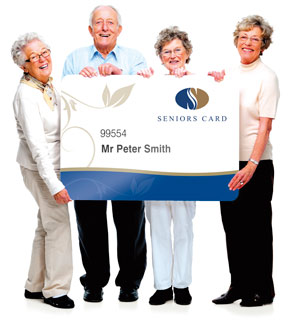 people holding Seniors Card
