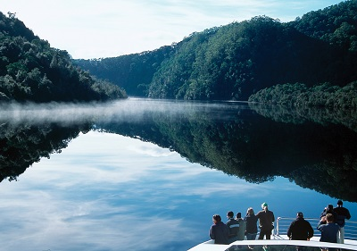 Passengers admiring the Gordon River